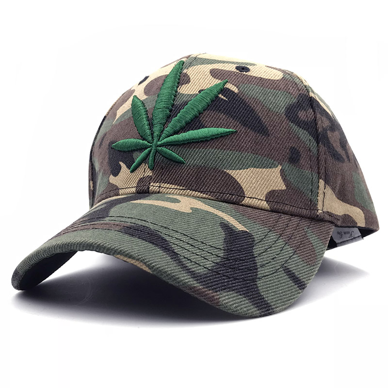 2018 Brand Weed five panel Snapback Camouflage   Baseball     Cap   Casquette Casual Outdoor Sport Bone Trucker Hats For Men Women