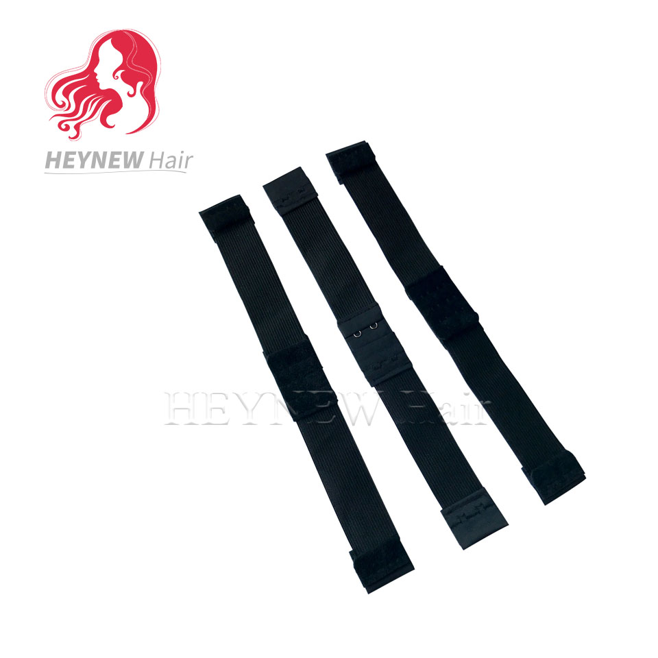 adjustable elastic band for wigs making 3PCS/Lot Free Shipping wig accessories wholesale black color