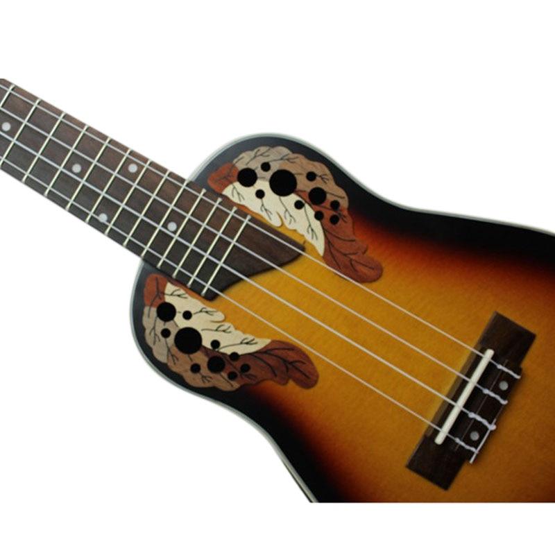 MMFC-23 inch Compact Ukelele Ukulele Hawaiian Red Sunset Glow Spruce Rosewood Fretboard Bridge Concert Stringed Instrument wit