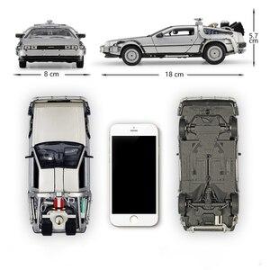 Image 2 - WELLY 1:24 ダイキャストシミュレーションモデル車 DMC 12 Delorean 時間にマシン将来車のおもちゃ金属おもちゃの車のギフトコレクション