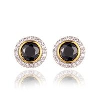GrayBirds New Unisex Earring For Men And Women Round High Quality AAA Blue And Black Big