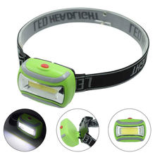 Mini LED COB Headlight Lamp Waterproof Headlamp Light 300 Lumens Plastic Headlamps Camping 3 Modes Head Frontale Torch AAA(China)