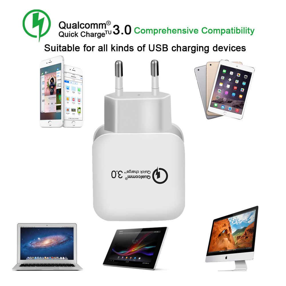 Lieve 18 W Pengisian Cepat 3.0 Uni Eropa Plug Charger Ponsel Cepat Dinding Charger Usb Adaptor untuk Samsung Xiaomi USB charger Telepon