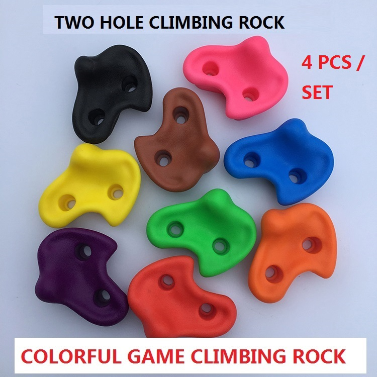 4 PCS SET Plastic children Indoor Rock Climbing toy Wall Kit Rock Stones Kids Toys Sports