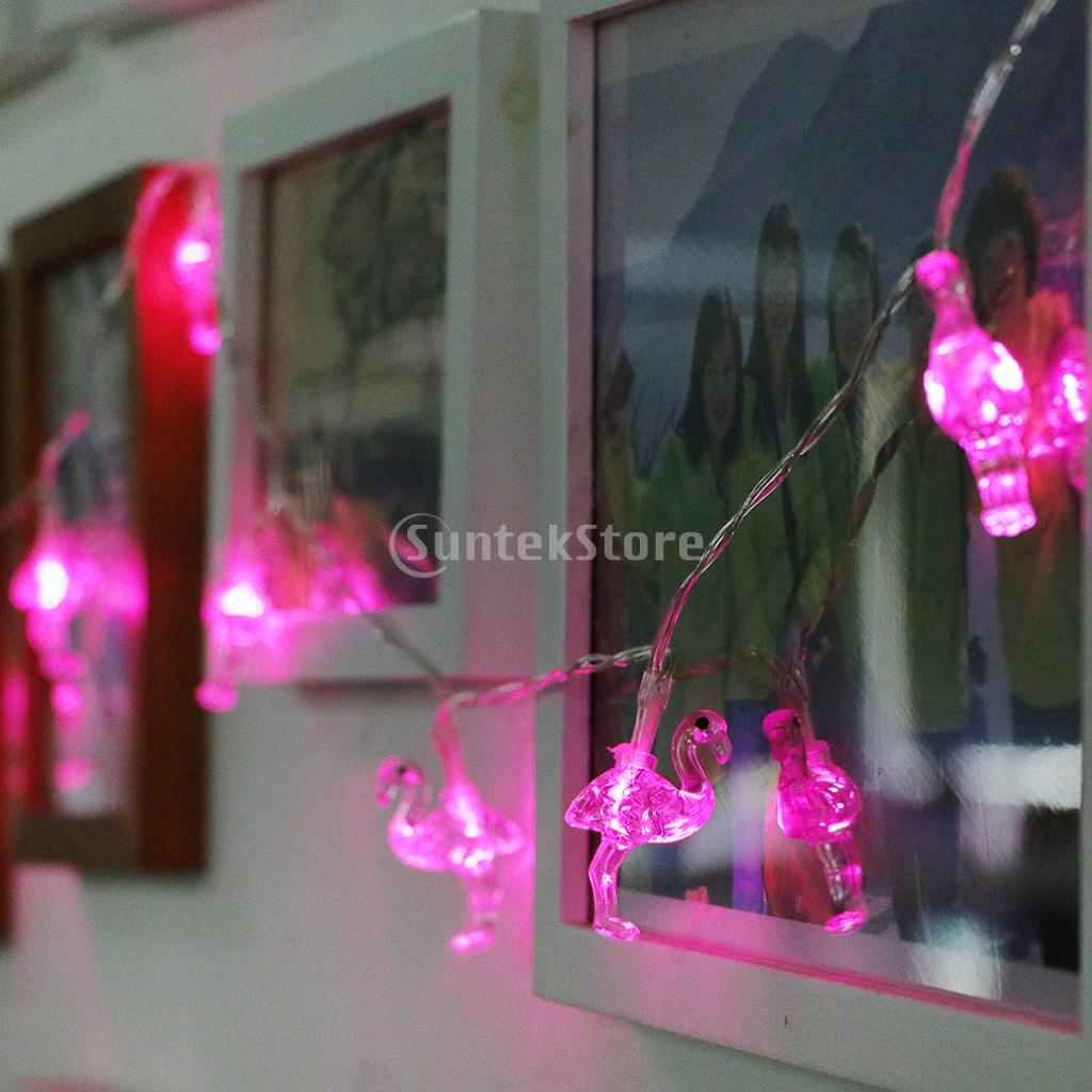 10 LED Flamingo Fairy String Light Indoor Outdoor Party Wedding Christmas Fairy Decoration Light