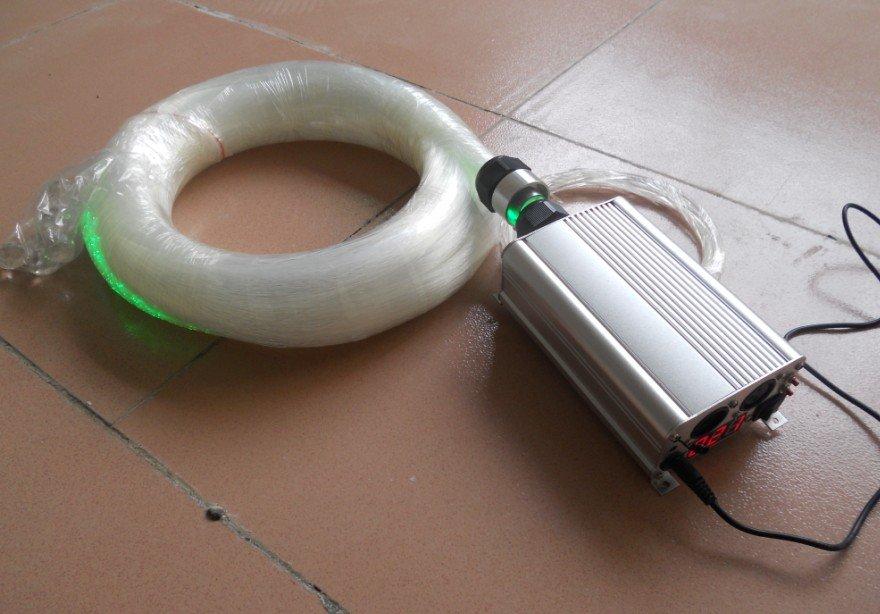 RGB 500pcs 0.75MM*5m optical fiber kit with crystal end fixture;ligh engine:9w led RGB dmx light engine with remote lea 501dmx 5w led light engine with remote controller with dmx function