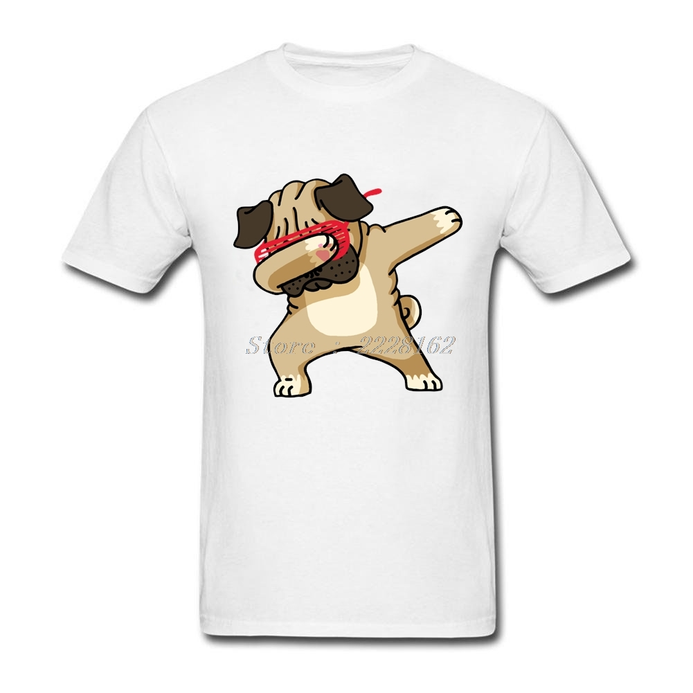 Men Fitted Company t-shirt Club Hip Hop Tops with Dabbing Pug Dog Men Hot Sale t shirt Adult Plus Size