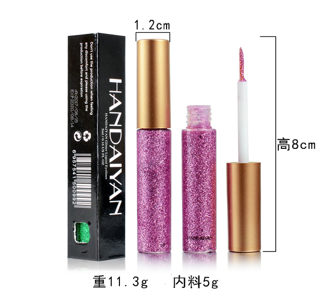 Glitter Liquid Eyeliner Pen Diamond Metallic Shine Eye Shadow & Liner Combination Pencil Eyes Makeup Glow Eyeshadow Cream Stick 3