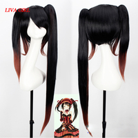 DATE A LIVE Tokisaki Kurumi High Quality Heat Resistant Synthetic Wig Black Brown Gradient Sexy Synthetic Hair Cosplay Wigs