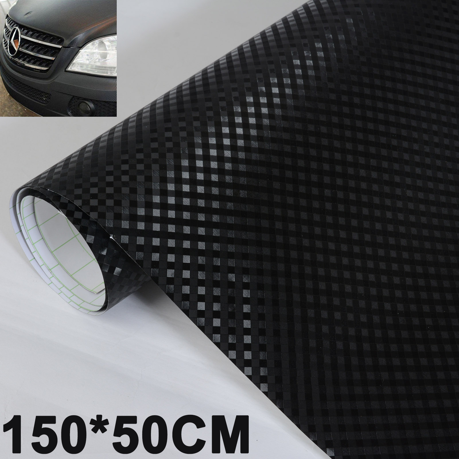 1pc 150*50CM 3D Carbon Fiber Car Vinyl Wrap Sheet Roll Film Decal Cool Black Carbon Fiber sticker for Car Sticker серьги клипсы other 2015 er461 ear cuff