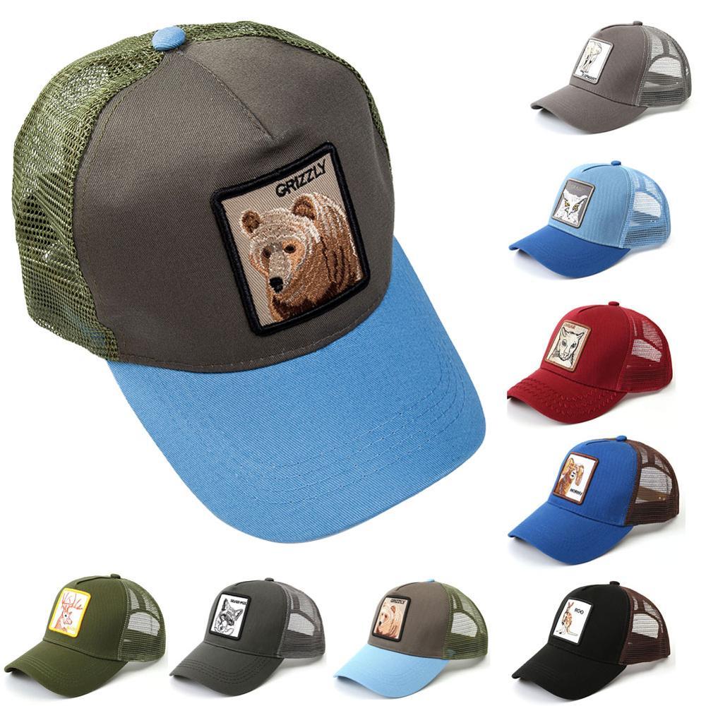 Hat Trucker-Hat Baseball-Cap Mesh Snapback Animal-Patch Farm One-Size Padidase Unisex