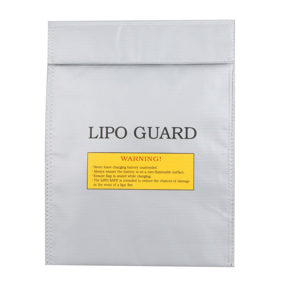 5) TEXU High quality RC LiPo Battery Safety Bag Safe Guard Charge Sack 30 * 23 cm silver