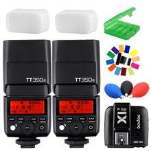 2x Godox Mini TT350S 2.4G TTL Flash Speedlite +X1T-S Trigger for Sony Mirrorless