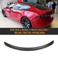 Rear Trunk Wing Spoiler for Tesla Model S Sedan 60 70 75 85 90 D P85D P90D P100D 2012 2017 Matt Gloss Carbon Fiber Boot Spoiler