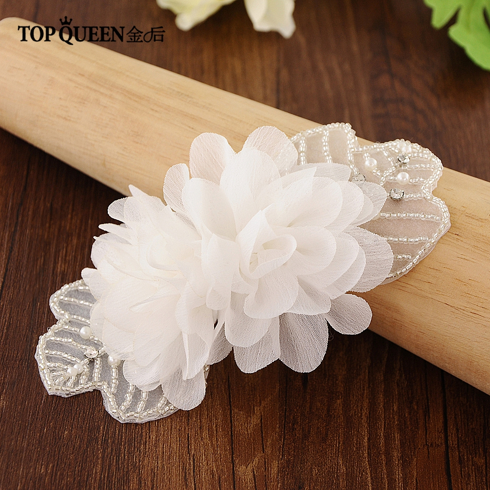 TOPQUEEN Flower Girl Belt Dress Sashes With Flowers Maternity Flower Sash Belt Belt wreath Applique Pregnancy Belly Belt  S248-A