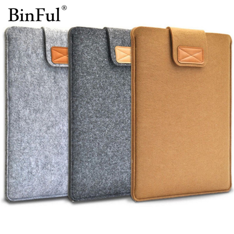 BinFul 11in/13in/15in Fashion Felt Pure Color Pad/Laptop Case Protection Cover Soft Liner Sleeve Bag For Man Women Students