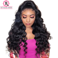 250% Glueless Full Lace Human Hair Wigs For Women Loose Wave Brazilian Virgin Wig Pre Plucked With Baby Hair Black Dolago