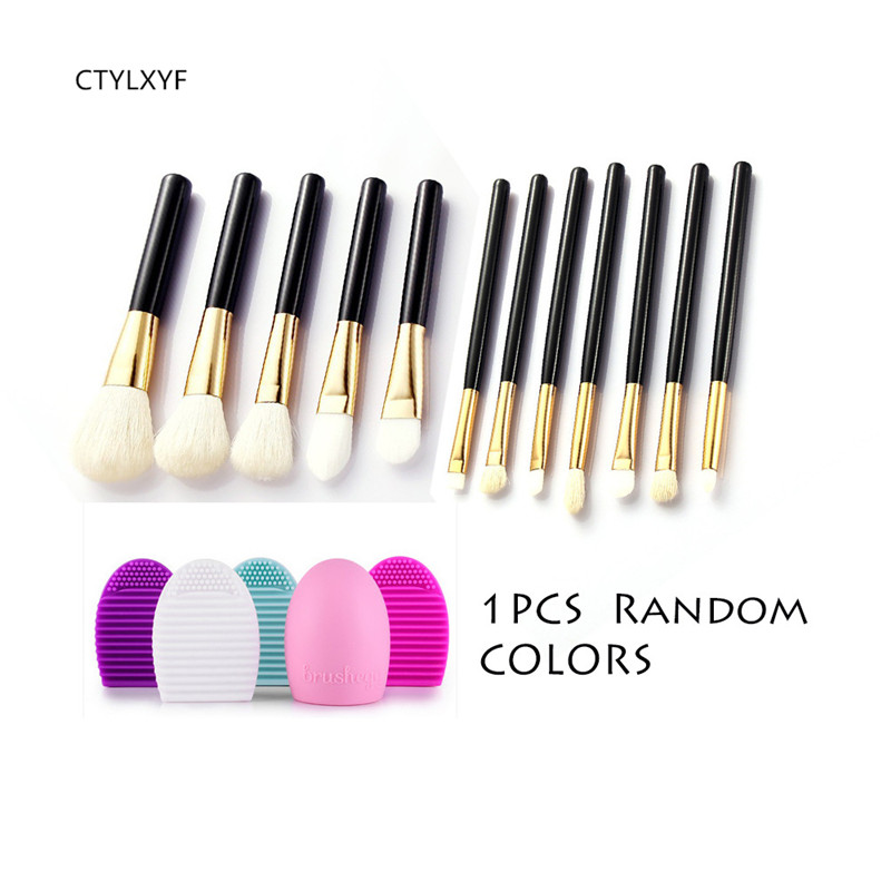 12pcs CTYLXYF makeup brushes  Goat Hair Professional makeup brush set Eye Shadows Wash egg combination make up brushes
