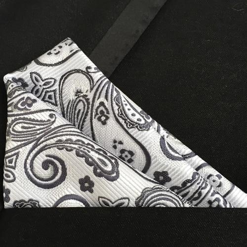 Lingyao Top Designer Paisley Pocket Square Excellent  Woven Microfiber Handkerchief Match Shirt Suits