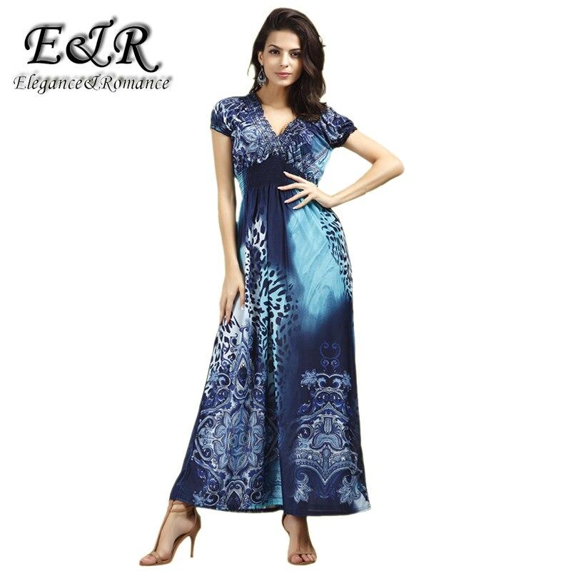 Голубой леопард платье в пол