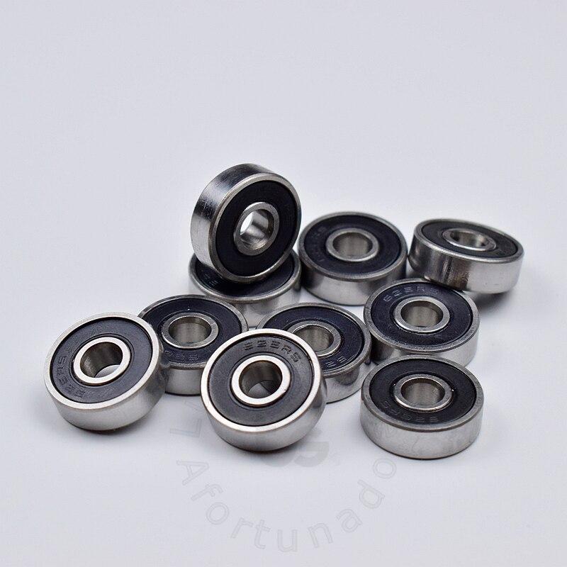 Купить с кэшбэком 626 626RS 6*19*6(mm) 10pieces  bearing free shipping ABEC-5 bearings rubber Sealed Mini Bearing 626 626RS chrome steel bearing