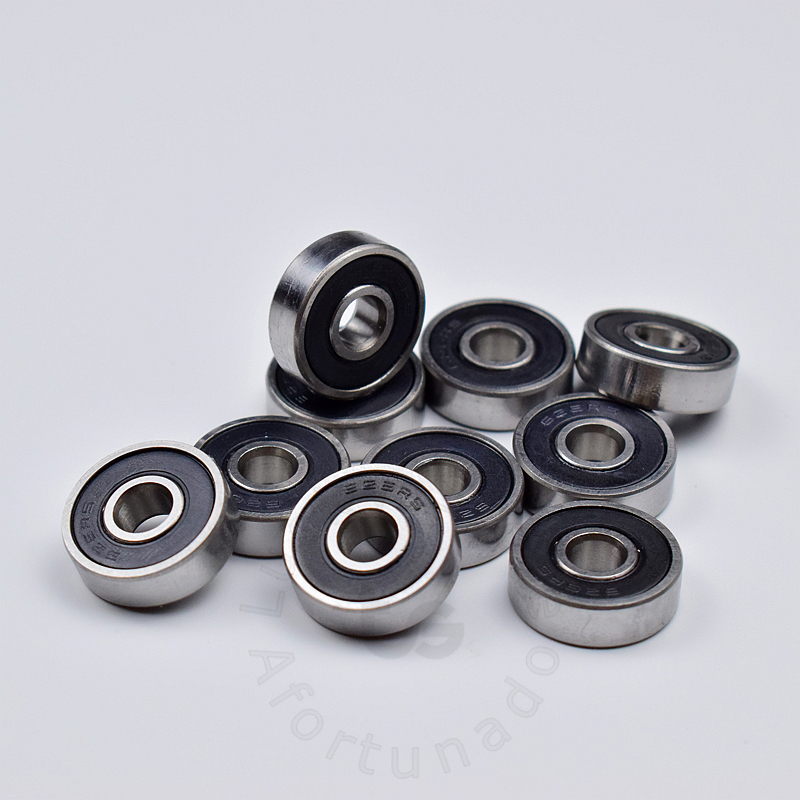 626 626RS 6 19 6 mm 10pieces bearing free shipping ABEC 5 bearings rubber Sealed Mini Bearing 626 626RS chrome steel bearing in Bearings from Home Improvement