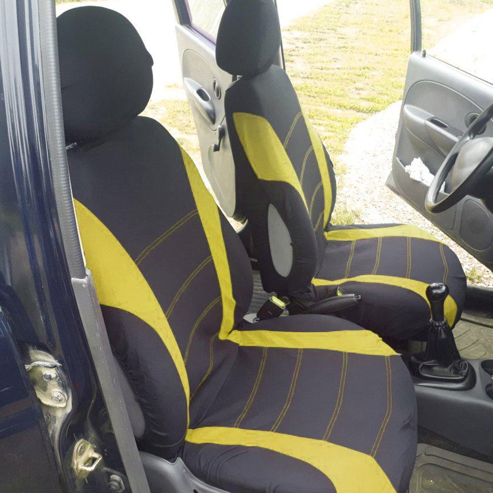 New 4pcs/Set Car Seat Cover Seat Protector Comfortable Dustproof Headrest Covers Front Seat Covers Universal For Auto Cars