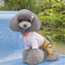 Small Medium Pet Dog Clothes  For T-shirt Knitted rope-strapped trousers 2019