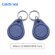 2 pieces RFID M1 13.56KHZ Keychain Keyfob card reader for door locks(China)