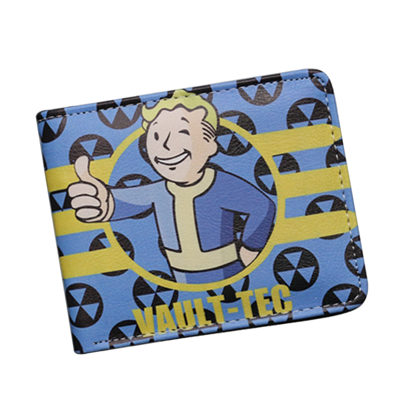 New Game Designer Cartoon Wallets Fall out  Vault Boy Wallet Small Slim Dollar Money Bag For Children Girls Cute Anime Wallet, цена и фото