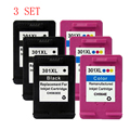 3 Set For HP301 Ink Cartridge For HP 301 XL ink cartridges Deskjet 1000 1050 1051 1055 2000 2050 3000 3050 3051 printer