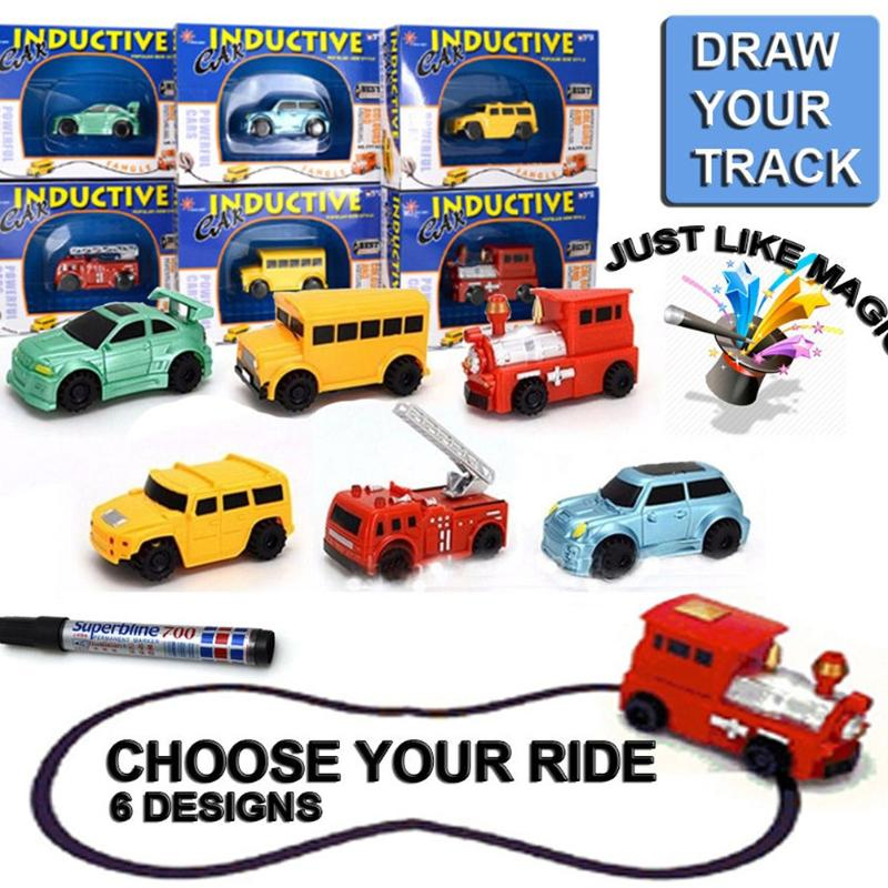 Automatic Follow-Line You Draw Novelty Car Truck Car Inductive Car Toy Engineering Cars Model For Kid Birthdayr Gift