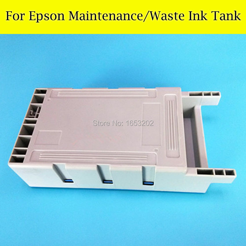 1 PC Waste ink Tank For EPSON Sure Color T6941 T3070 T5070 T7070 T7000 Printer Maintenance Tank Box best price stable maintenance ink tank for epson surecolor t3070 t5070 t7070 printer waste ink tank