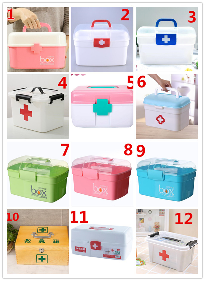NEW Multi-functional plastic storage Household children's medicine Multi-layer first aid Portable medicine box multi function aluminum plastic storage box silver