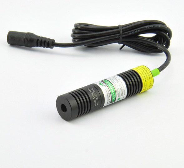 ФОТО 50mW 532nm green laser diode module (line shape) plus laser bracket and power adapter diameter 18mm x75mm length
