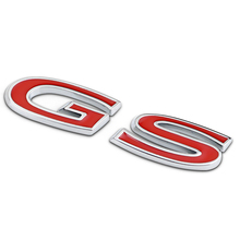 3D Red GS Symbol Car Styling Auto Body Rear Emblem Badge Stickers for Buick REGAL Universal
