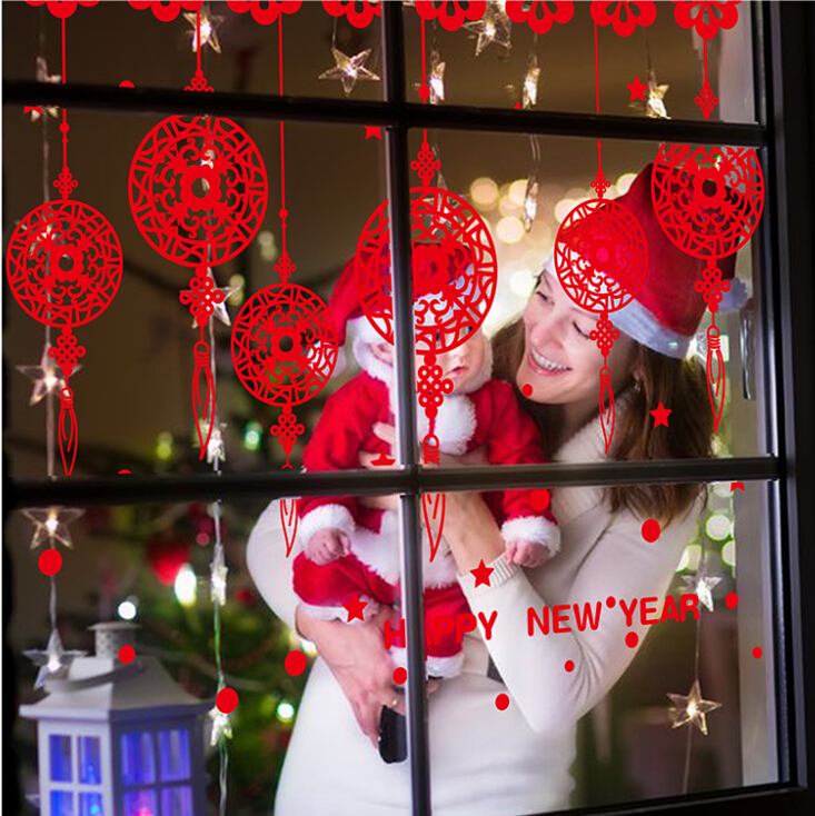 High Quality Paper Cut For Window Decoration Store Home Room House Glass Decoration Christmas Decoratio