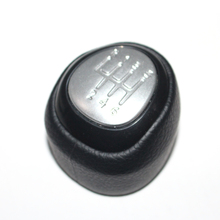 5 and 6 Speed Car Shift Gear Knob Covered Real Leather For SAAB 9 3 2003 2004 2005 2006 2007 2008   2012