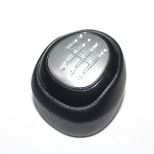 Image 1 - 5 and 6 Speed Car Shift Gear Knob Covered Real Leather For SAAB 9 3 2003 2004 2005 2006 2007 2008   2012
