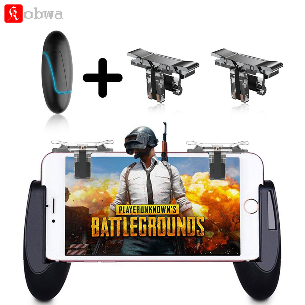 KOBWA Mobile Game Controller Gamepad Trigger Aim Button