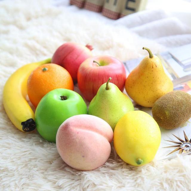 Vivid Mousse Artificielle Fruits Faux Réaliste Fruits Pomme Pêche on