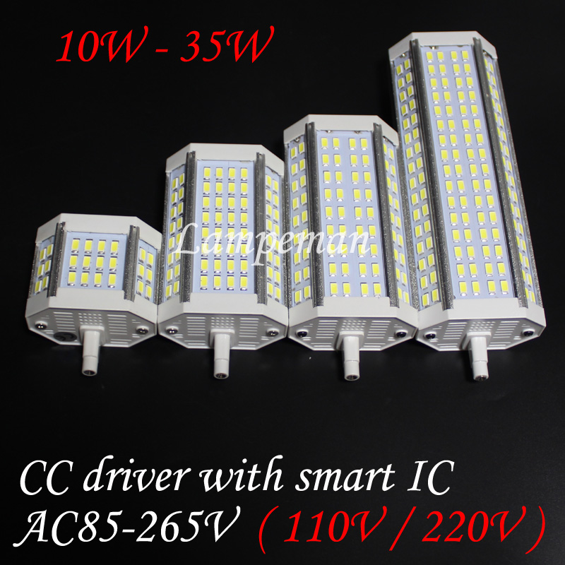 <font><b>r7s</b></font> <font><b>led</b></font> lamp light dimmable 78mm 118m j78 J118 110V 120V 220V 230V 240V 260V 5730smd 64led 18w 20w 25W <font><b>30W</b></font> 35W 50W 6000K 3000k image