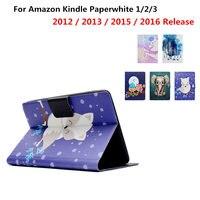 Ультра тонкий Фолио искусственная кожа Чехол для Amazon Kindle Paperwhite 1 2 3 6 дюймов E-Book 2012 2013 2015 2016 режим Smart Auto сна/Пробуждение Обложка