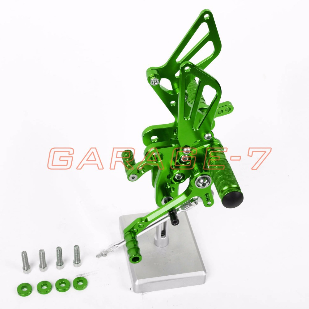 Rearsets Foot Rests Rear Set For SUZUKI GSXR 1300 Hayabusa 1999-2007 2006 2005 Hayabusa  Motorcycle Foot Pegs A New Green CNC
