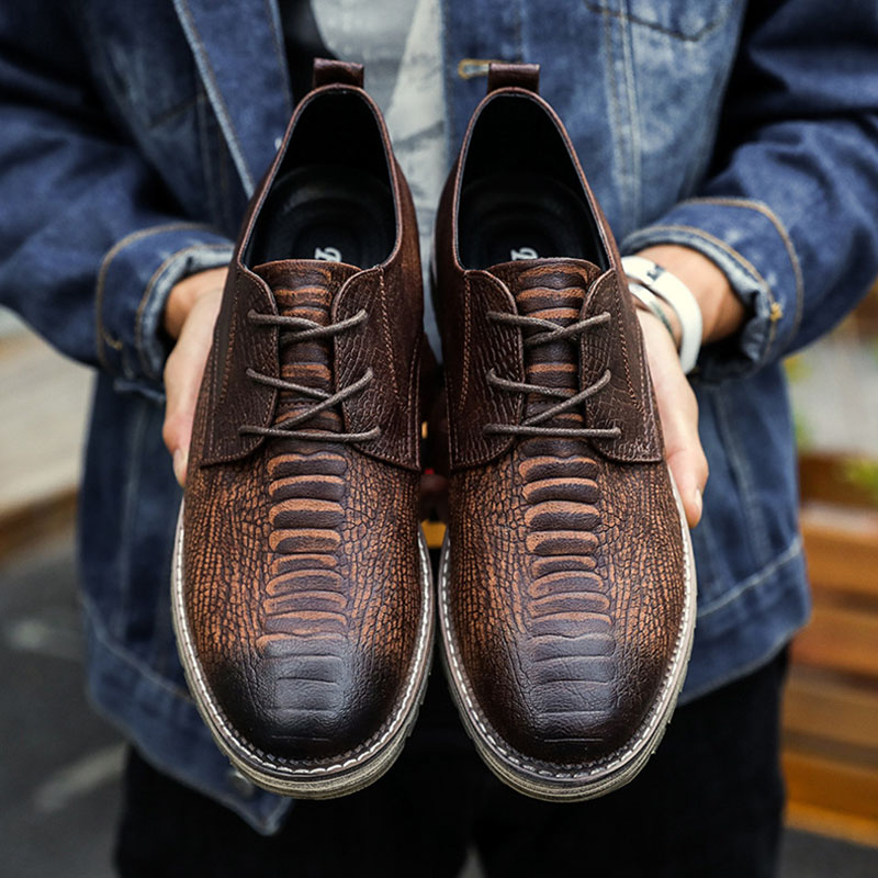 Cooperative Business Man Leather Shoes Mens Cowhide Lace Up Europe Large-size 11 12 Formal Dress Oxfords Casual Office Shoes Price Remains Stable Shoes