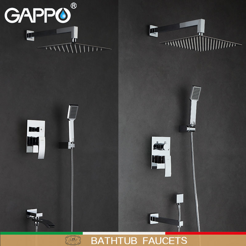 GAPPO Bathtub Faucets Shower Faucets bathtub taps waterfall mixer tap faucet wall mount Sanitary Ware Suite torneira do chuveiro