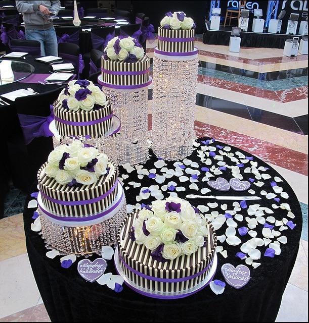 FREE Shipping 4pcs/Lot Crystal cake stand centerpiece Wedding Cake Display Birthday decoration