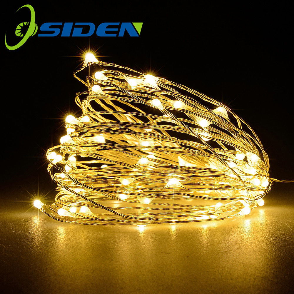 Led Fairy Christmas Light 2M 5M 10M Warm White Garland String Light Wedding Party Outdoor Holiday 3AA Battery USB 8Mode Lamp