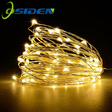 led Fairy Christmas Light 2M 5M 10M warm white Garland String Light wedding Party Outdoor Holiday 3AA Battery USB 8Mode lamp цена и фото