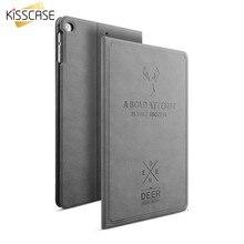 KISSCASE Retro PU Funda de piel Para iPad Mini 1 2 3 4 Ultra Delgada Cubierta del Soporte del tirón Para el ipad de Aire 1 2 Flip Funda de Cuero Para iPad 5 6